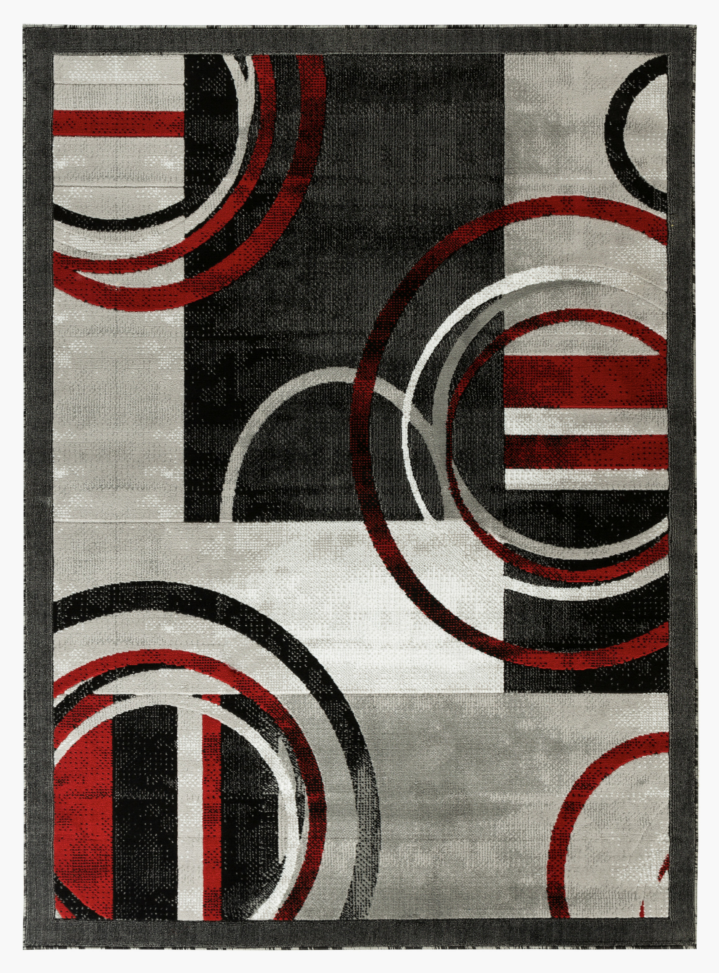 Orren Ellis Delana New Modern Gray Red
