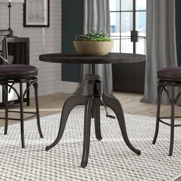 Woodbranch Industrial Crank Adjustable Pub Table by Greyleigh