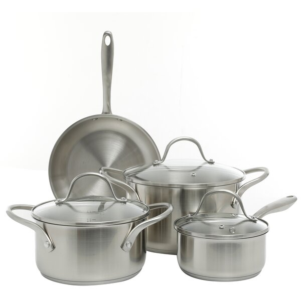 Lexie 7 Piece Non-Stick Stainless Steel Cookware Set by Symple Stuff