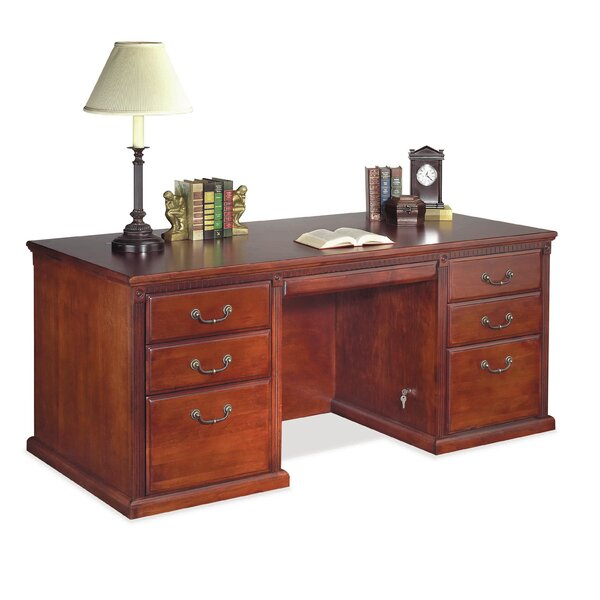 Myrna Double Pedestal Executive Desk by Darby Home Co
