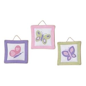 3 Piece Butterfly Wall Hanging Set by Sweet Jojo Designs