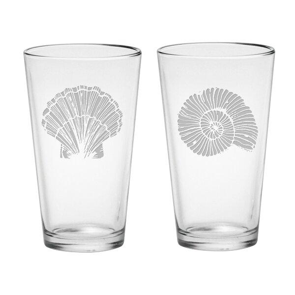 Aran 2 Piece 16 oz. Glass Pint Glass Set by Highland Dunes
