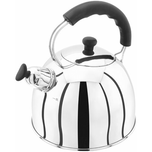 Traditional 2 L Stainless Steel Whistling Stove Top Kettle J