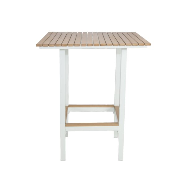 Marina Teak Bar Table by Brayden Studio