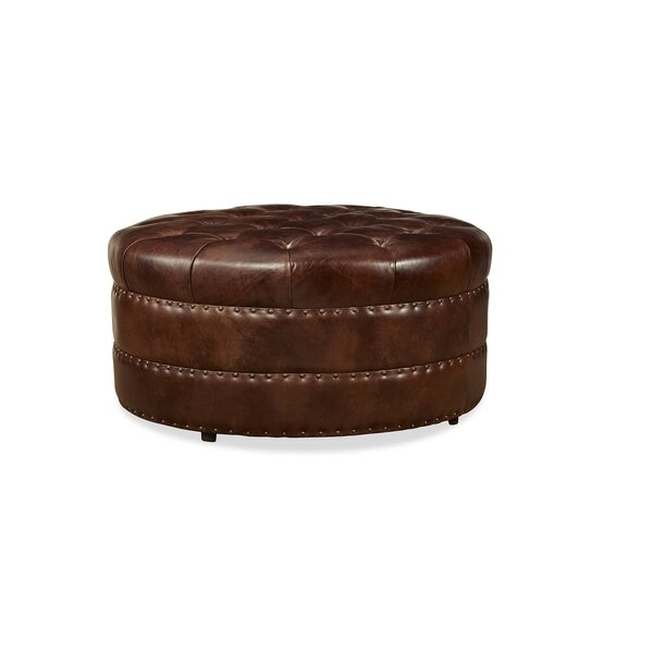 Kelson Leather Cocktail Ottoman by Darby Home Co