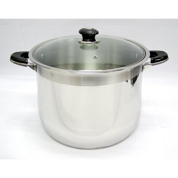 Mega Cook Stock Pot with Lid by Prime Pacific