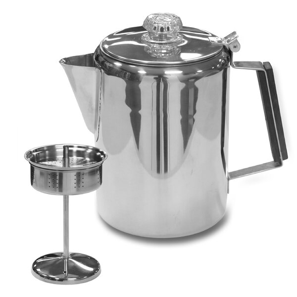 Stainless Steel Percolator Coffee Pot by Stansport