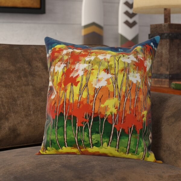 Brookfield Floral Throw Pillow by Loon Peak