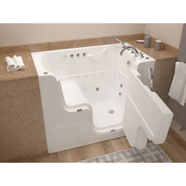 Mohave 53 x 29 Whirlpool & Air Jetted Wheelchair Accessible Bathtub by Therapeutic Tubs