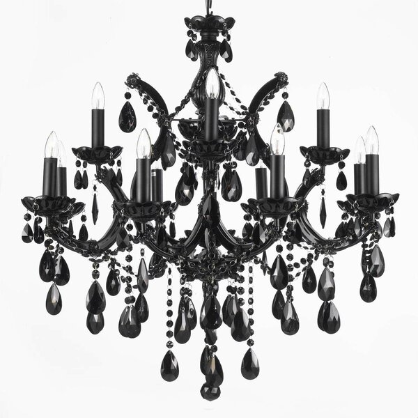 Dacia 12-Light Candle Style Tiered Chandelier by Rosdorf Park Rosdorf Park