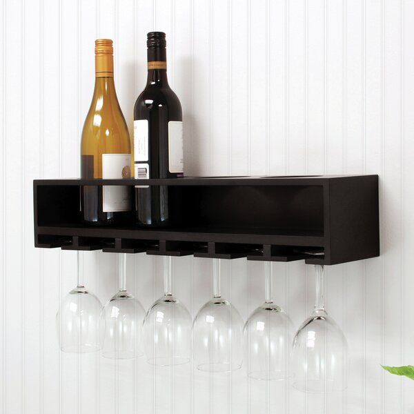 4 Bottle Wall Mounted Wine Rack by nexxt Design