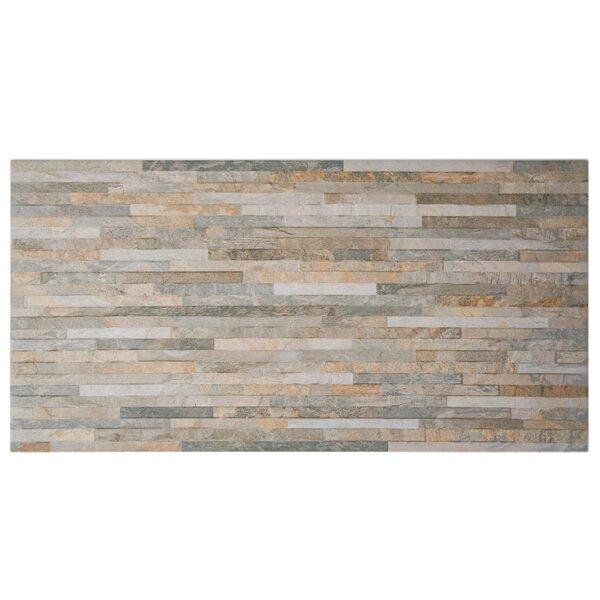 Muro Arriba 12.5 x 24.5 Porcelain Splitface Tile in Ochre by EliteTile