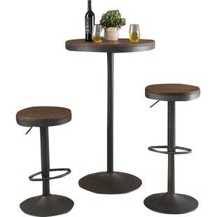 grenora 3 piece pub table set - 3 Piece Pub Table Set