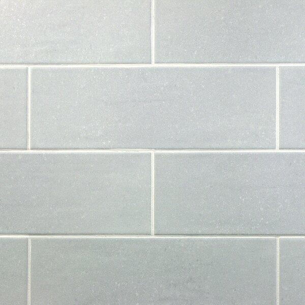 Piston Industrial Glass 4 x 12 Porcelain Subway Tile in White by Splashback Tile