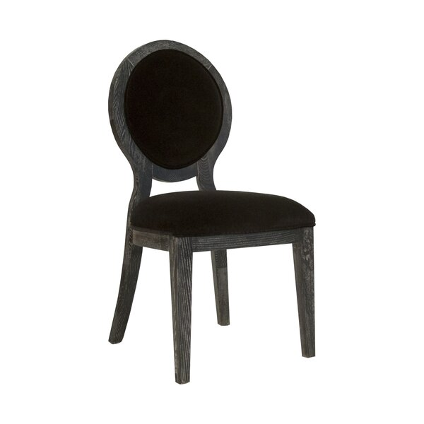 Oval Upholstered Dining Chair by Worlds Away