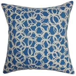 Makani Geometric Cotton Throw Pillow by The Pillow Collection