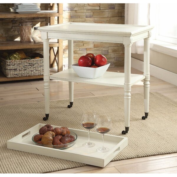 Review Burlone Wooden Serving Tray Table