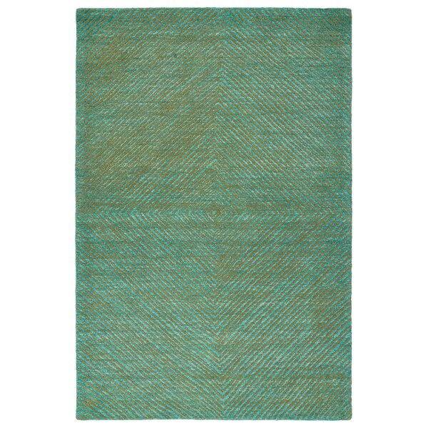 Caneadea Hand-Tufted Turquoise Area Rug by George Oliver