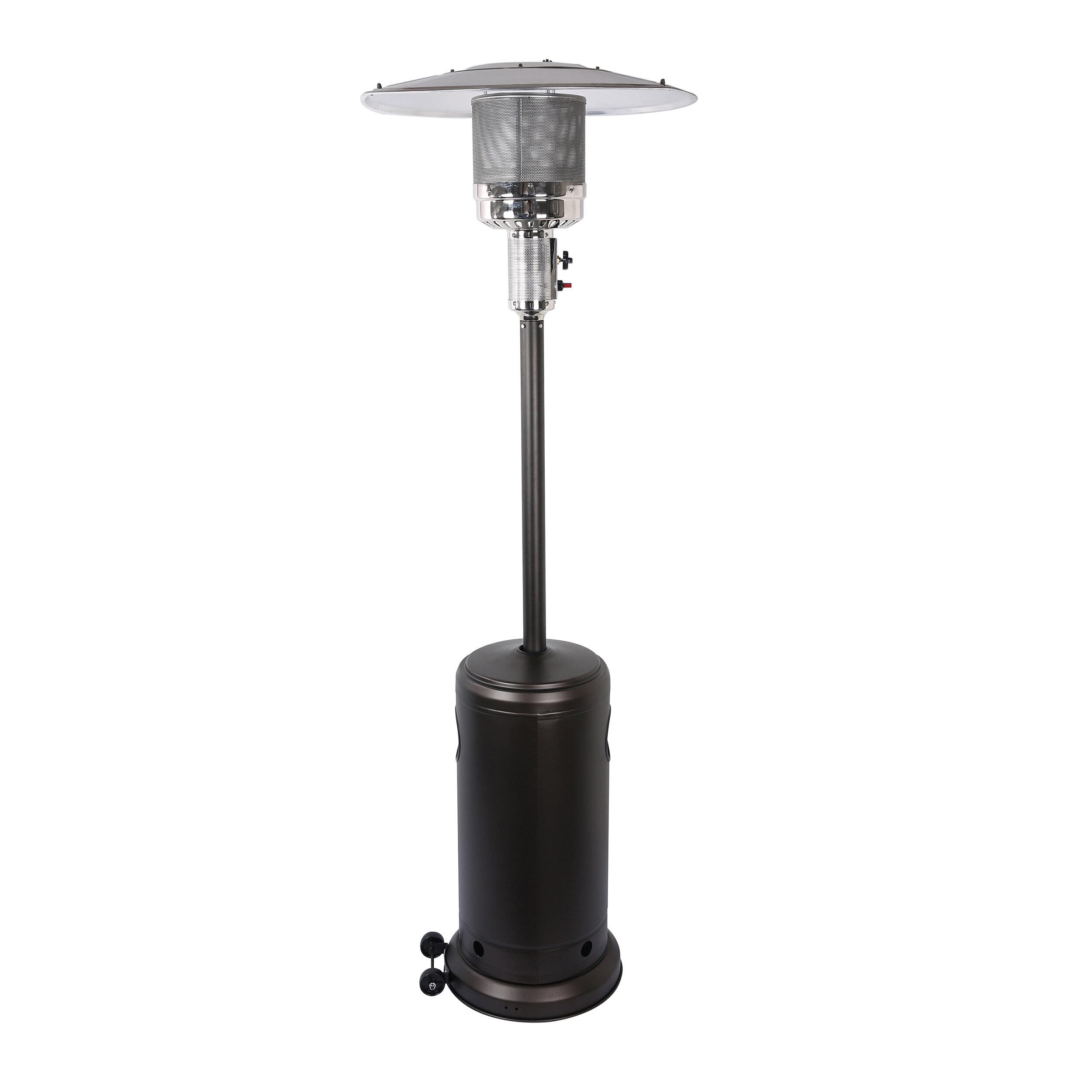 Propane patio heater Infrared Wayfair Azure Sky Outdoor 48000 Btu Propane Patio Heater Wayfair