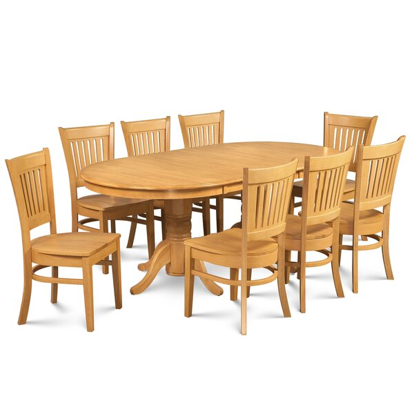 Schacht Traditional 9 Piece Extendable Solid Wood Dining Set by Winston Porter
