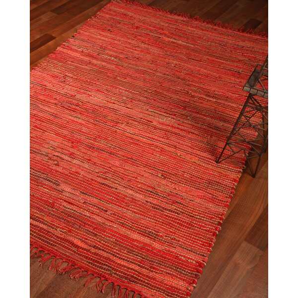 Concepts Hand-Woven Red Area Rug by Natural Area Rugs