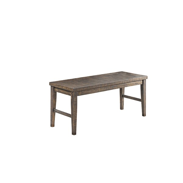 Burkhalter Pines Wood Bench by Union Rustic