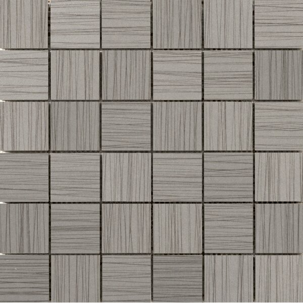 Thread 2 x 2 Porcelain Mosaic Tile in Gray by Emser Tile