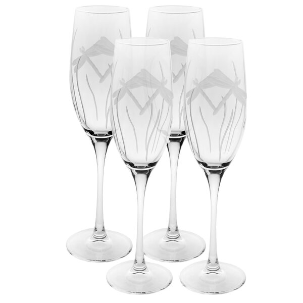 Dragonfly 8 Oz. Champagne Flute (Set of 4) by Rolf Glass