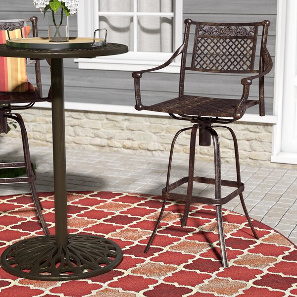 Cranmore 29.5 Patio Bar Stool (Set of 2) by Darby Home Co