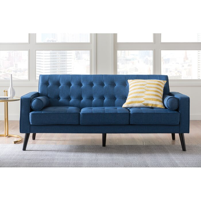 Langley Street Deven Mid Century Tufted Sofa Reviews Wayfair Ca