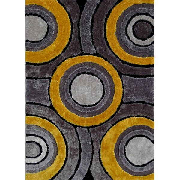 Sibdon Hand-Tufted Gray/Yellow Area Rug by Orren Ellis
