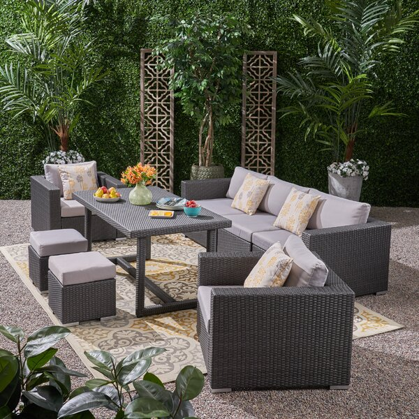 Cannes 8 Piece Sofa Seating Group with Cushions by Brayden Studio
