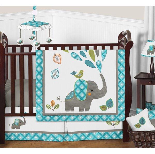 Mod Elephant 11 Piece Crib Bedding Set By Sweet Jojo Designs.