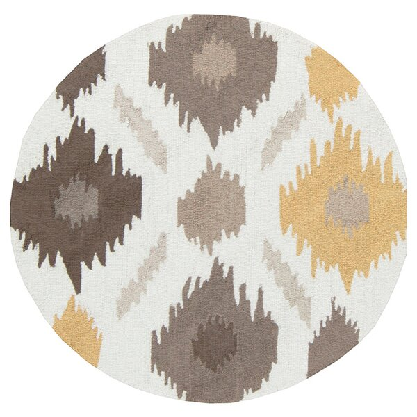 Croghan Ikat Hand-Tufted Gold/Gray Area Rug by George Oliver