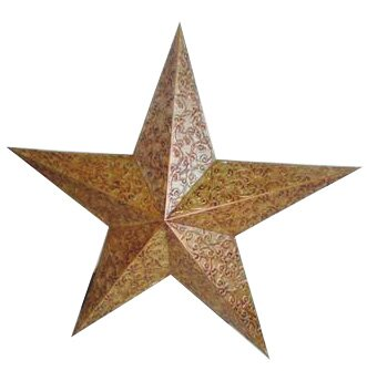 Engraved Tin Star by Craft Outlet