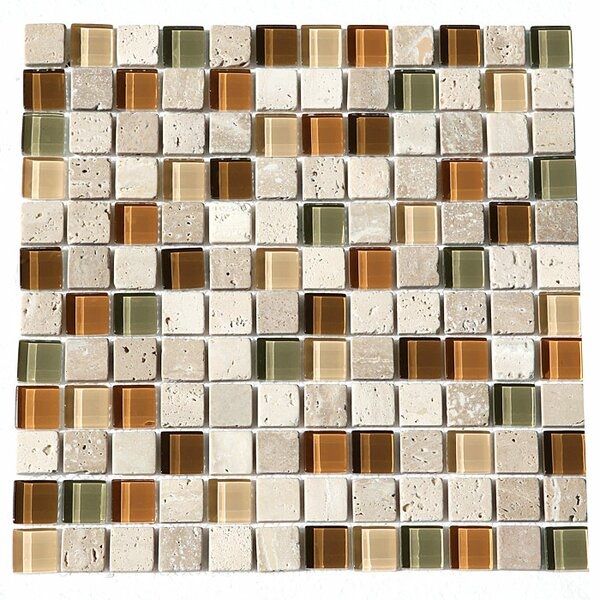 Paragon 12 x 12 Glass Mosaic Tile in Mosaic Harvest by Kellani