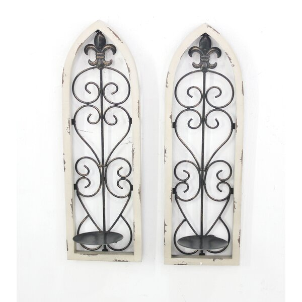 Metal and Wood Candle Holder (Set of 2) by Teton Home