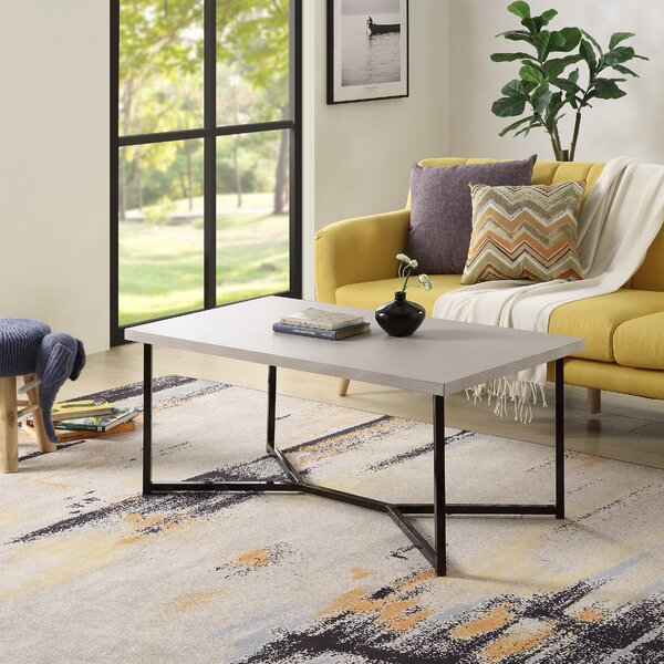 Rosabel Cross Leg Coffee Table By Everly Quinn