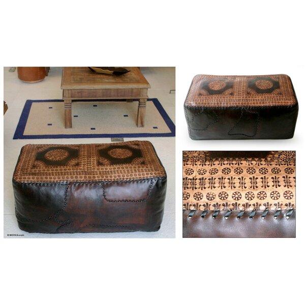 Box Cushion Ottoman Slipcover by Novica