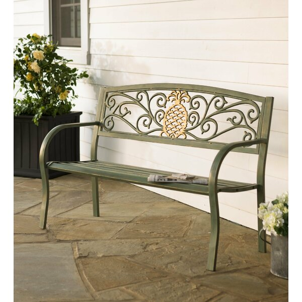 Pineapple Metal Garden Bench By Plow & Hearth by Plow & Hearth Herry Up
