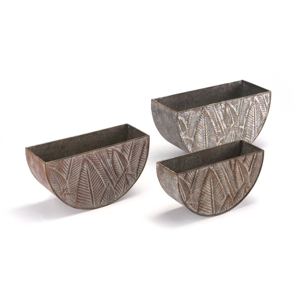 Penobscot 3-Piece Steel Pot Planter Set by Bay Isle Home