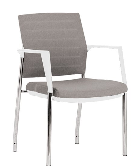 Tgeg Mesh Guest/Reception Stacking Chair with Cushion (Set of 2) by TGEG