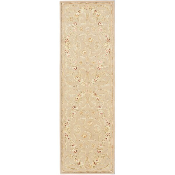 Angeville Traditional Hand Tufted Light Weak Yell Area Rug by August Grove