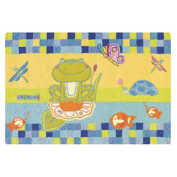 Dunanney Wool Blue Area Rug by Zoomie Kids