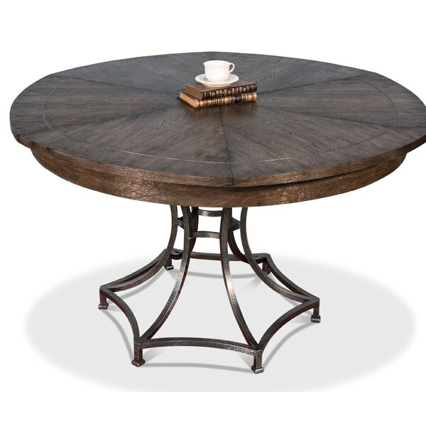 Claudios Extendable Solid Oak Dining Table by Gracie Oaks Gracie Oaks
