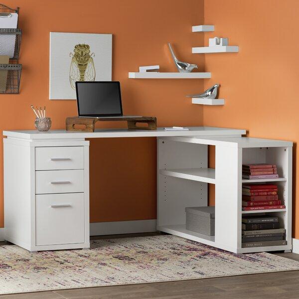 Senga L-Shape Executive Desk by Mercury Row