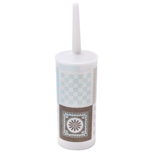 Faience Printed Free-Standing Toilet Brush Holder by EvidecoFaience Printed Free-Standing Toilet Brush Holder by Evideco