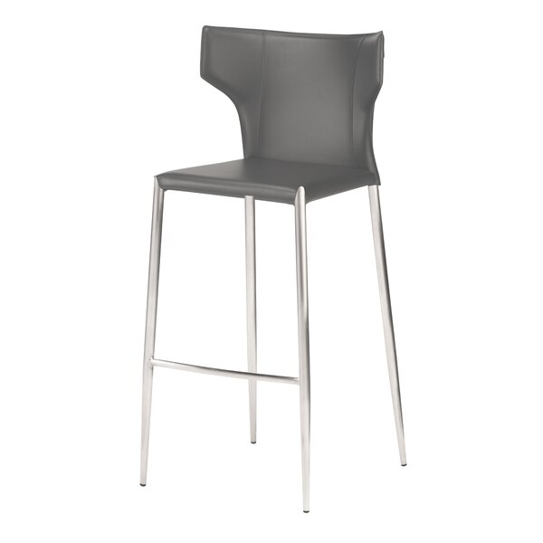 Wilfried 30 Upholstered Bar Stool by Orren Ellis