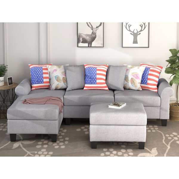 Vappu Left Hand Facing Sectional With Ottoman By Latitude Run