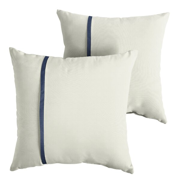 Fossen  Indoor/Outdoor Sunbrella Throw Pillow (Set of 2) by Charlton Home